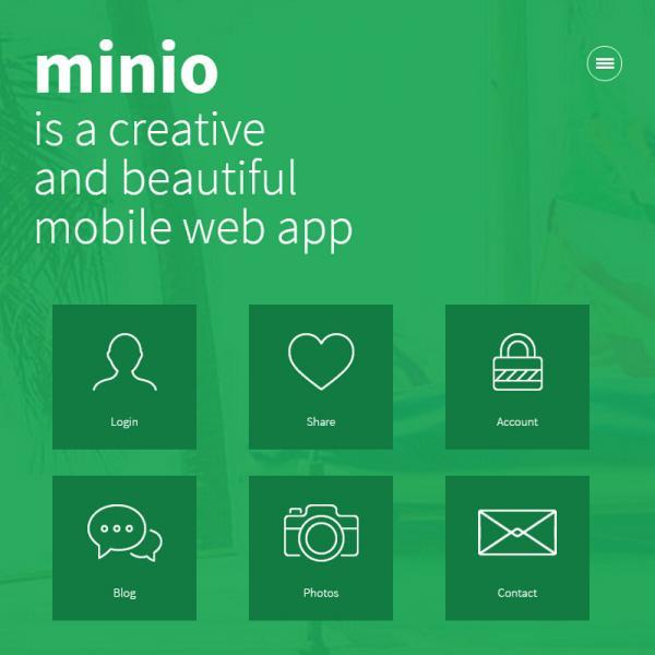 绿色的图片展示wap手机博客网站模板