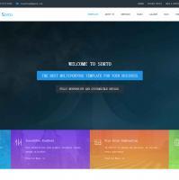 HTML5响应式高端大气宽屏网站模板整站源码下载