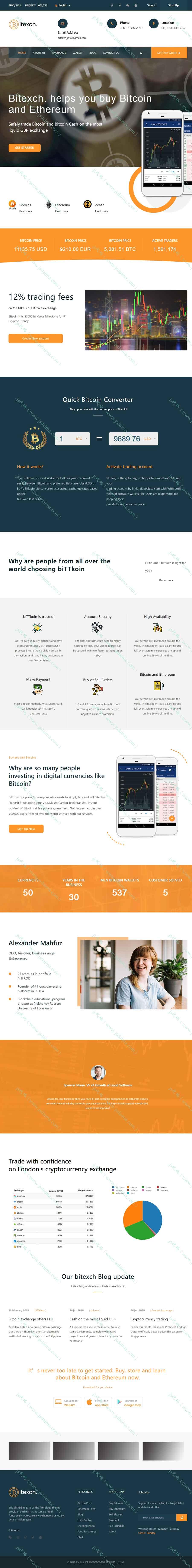 比特币虚拟货币类公司HTML5响应式企业网站模板