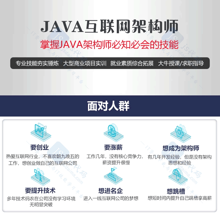 Java互联网高级架构师高级进阶实战课程